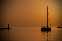 Yvonne Dodwell  Sunset Tinos-Island Greece