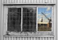 Coralie May Window Reflection Cockatoo Island  - Credit