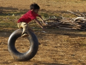 Tim Collisbird Jumping Tyres