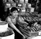 Yvonne Dodwell  Fishmonger Saigon Market