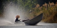 Rosslyn Duncan Speeding Canoe Burma
