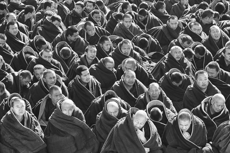Jim Millar Xiahe Monastery Monks China